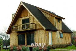 Blueridge Chalet 28 X 36 Kit Shell Personnalisable Maison, Livré Prêt À Construire