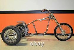 Cadre Trike Trike Bobber Chopper Cadre Rolling Châssis Roller Roller Harley Bike Kit
