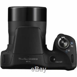 Canon Powershot Sx420 Appareil Photo Numérique 20.0mp Optique 42x Nfc / Wifi 32gb Kit