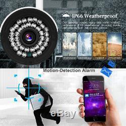 Cctv Sans Fil Hdmi 1080p 4ch Nvr Système De Sécurité Caméra Extérieure Ir Kit Nuit 1tb