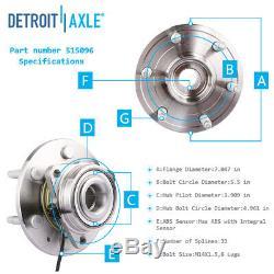 Chevrolet Silverado 1500 4x4 6-lug Deux CV Et Roulements De Roue Essieux + Kit De Suspension