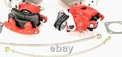 Chevy 10 Kit De Frein À Disque Arrière 12 Boulons Chevelle El Camino, Cutlass Red Caliper