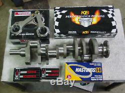 Chevy 454 496 502 540 Stroker Kit Bbc Vilebrequin Pistons Wiesco Scat Roi 060