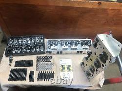 Chevy Top End Kit 350 383 400 Têtes De Cylindre En Aluminium Bouchon Droit 327 283