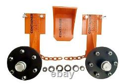 Clip-on Shipping Container Wheels Full Transport Kit Move 20/40ft Container