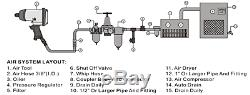 Compresseur D'air De 24 Litres Et Trousse À Outils De 5 Pièces 9.6 Pcm, 2.5 HP