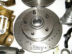 Conversion Gm Frein Avant À Disque Kit Spindles & Forée Slotted Rotors A, F, Body X