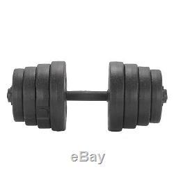 Deluxe 30 KG Haltères Paire De Poids Barbell / Haltères Body Building Set Kit Gym