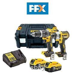 Dewalt Dck266p2t-gb Xr 18v combi Driver Impact Drill Kit 2x + 5 Ah Tstak Cas