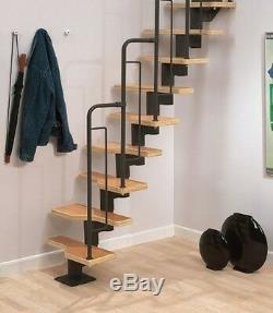 Dolle Graz Kit D'escalier Spiral Loft Space Saver En Métal Noir (en Stock)