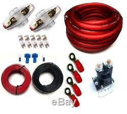 Double Charge De La Batterie Isolateur Pl + Câblage Kit + Fusibles Et Porte-fusible 150a 80a