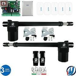Electric Swing Gate Opener Complete Kit 2 Moteurs 5 Rémots Par L'automatisation De L'oxygène
