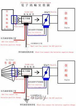 Électrique Turbo Supercharger Kit Turbocompresseur Filtre À Air D'admission Pour Voiture Universel