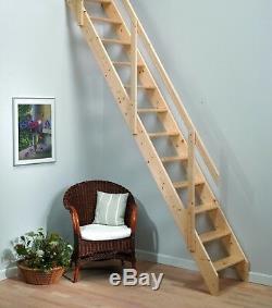 Ensemble D'escalier D'économiseur D'espace En Bois Madrid (escalier / Échelle Loft)