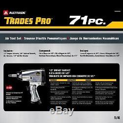 Ensemble D'outils Et D'accessoires Pneumatiques Trades Pro De 71 Pièces Avec Étui De Rangement, 836668