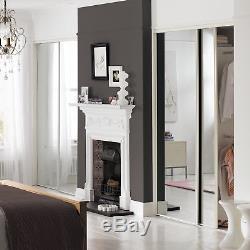 Ensemble De Portes Coulissantes Pour Miroir De Cadre Blanc Livraison Gratuite 5 Tailles De Kit