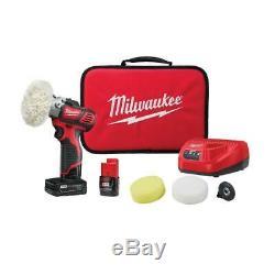 Ensemble Polisseuse / Ponceuse À Vitesse Variable Milwaukee M12 Avec Batteries 3,0 Et 1,5 2438-22x