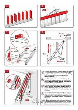 Escalier En Bois Kit Espace Loft Saver Stairs Échelle Largeur 60 CM + Marches Antidérapantes