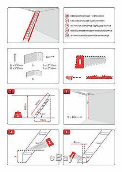 Escalier En Bois Kit Loft Grenier Échelle Stairs Space Saver 600mm Steps Paddle 67 °