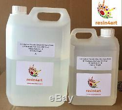 Faible Viscosité Ultra-clair Résine Époxy Uv Résistant À 5 KG Kit