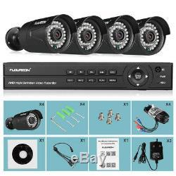Floureon Cctv 8ch 1080n Dvr Enregistreur Kits Système De Caméra De Surveillance Extérieure 3000tvl