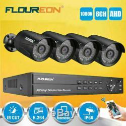 Floureon De Hdd Système Cctv Kit 1080p 8 Canaux 5-en-1 Dvr 3000tvl Caméra De Sécurité Aa