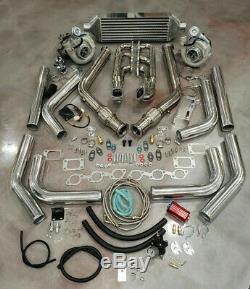 Ford Mustang V6 3.8l Twin Turbo T3t4 Turbocompresseur Kit Custom Built 550+ HP