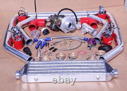 Ford Universal 8 Psi Upgrade V-band T3/t4 Turbo Turbocharger Kit Stage 3 350hp