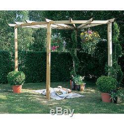 Forêt Radiale Pergola Kit De Jardin En Bois Décoration Extérieure Usine Structure D'escalade