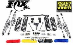 Fox Shocks 2.0 À Distance 4 Ascenseur Susp Rez Zone Kit Pour Jeep Wrangler Jk Illimités
