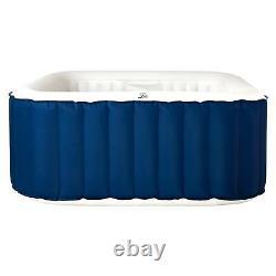 Garden Jacuzzi Bubble Pool 4 Personne (2+2) Carré Gonflable Hot Tub Spa Kit