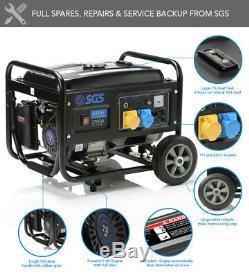 Groupe Électrogène Portable Sgs 3,75 Kva Avec Kit De Roue