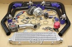 Gt T3 / T4 T3 T4 T04e Kit Chargeur Universel Turbo + Wastegate + Intercooler + Tuyauterie