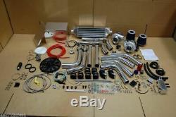 Haute Performance Twin T3 Turbocompresseur Kit Bricolage Personnalisés Batterie Box 2x Descentes