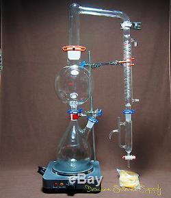 Huile Essentielle Distillation À La Vapeur Kit, Appareil De Laboratoire, Withhot Poêle, Graham Condenseur