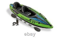 Intex Challenger K2 Kit De Kayak Et Accessoires Gonflables 2 Personnes Avec Avirons Et Pompe