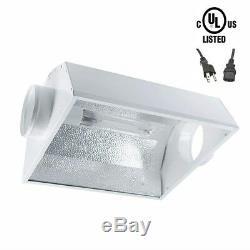 Ipower 600w Hps Mh Cool Kit Développent Légère Tube Wing Refroidir Tube Réflecteur Capot Set