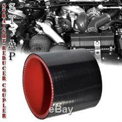 Jdm 28 Turbo Intercooler Blk + 2,5 Aluminium Passepoil Noir Kit Tuyaux Accouplements Noir