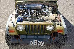 Jeep Wrangler Tj 00-06 Offroad Turbo Kit Nouveau Make 40% Plus De Puissance Direct Boulonnés