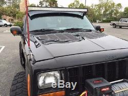 Jeep Xj Cherokee Paralume En Aluminium Capot Bolton Panneaux De Ventilation Kit Rodlouvers De Refroidissement