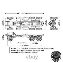 Kingkong Rc 1/12 Échelle Ca30/zisl-151 6x6 Soviet Truck 1/12 Metal Chassis Kit Set