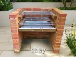 Kit Barbecue Diy Brick Brick Bbq Grill En Acier Inoxydable 67cm X 40cm