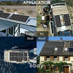 Kit Complet 200w 2100w 12v Solar Panel & 20a Controller For Car Caravan Rv