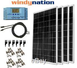Kit Complet 400 Watt 400w Poly Panneau Solaire 12v 24v Batterie Bateau De Camping-car Hors Réseau