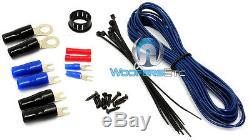 Kit D'amplis Filaires De Calibre 0 Et 4 Jauges À 2 Voies 8500w 3 Rca Installez Les Câbles À Deux Amplificateurs O