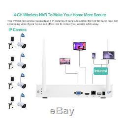 Kit De Caméra 1080p Nvr De Système De Sécurité À La Maison Sans Fil De 1td Hdd 4ch 720p Cctv D'ip