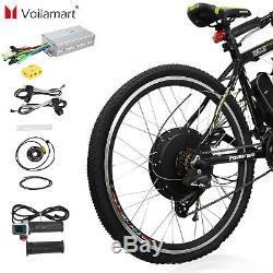 Kit De Conversion De Vélo Électrique 1500w 48v E Vélo Moteur Moyeu Roue Arrière 26