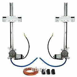 Kit De Fenêtre D'alimentation En Verre Plat 2 Portes Commutateurs Street Rod Hot Rod Avant Verre Arrière