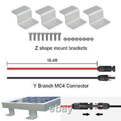 Kit De Panneaux Solaires De 120 Watt Chargeur De Batterie 12 Volt Rv Remorque De Voyage Camper Van