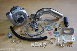 Kit Turbocompresseur Hybride T3 / T4 T3 T4 Turbo 3an Ss Huile, Tuyau De Descente, Bov, Étape 1